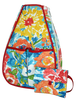 40 Love Courture Ladies Sophi Tennis Backpacks - Watercolor Flowers with Red Interior Lining