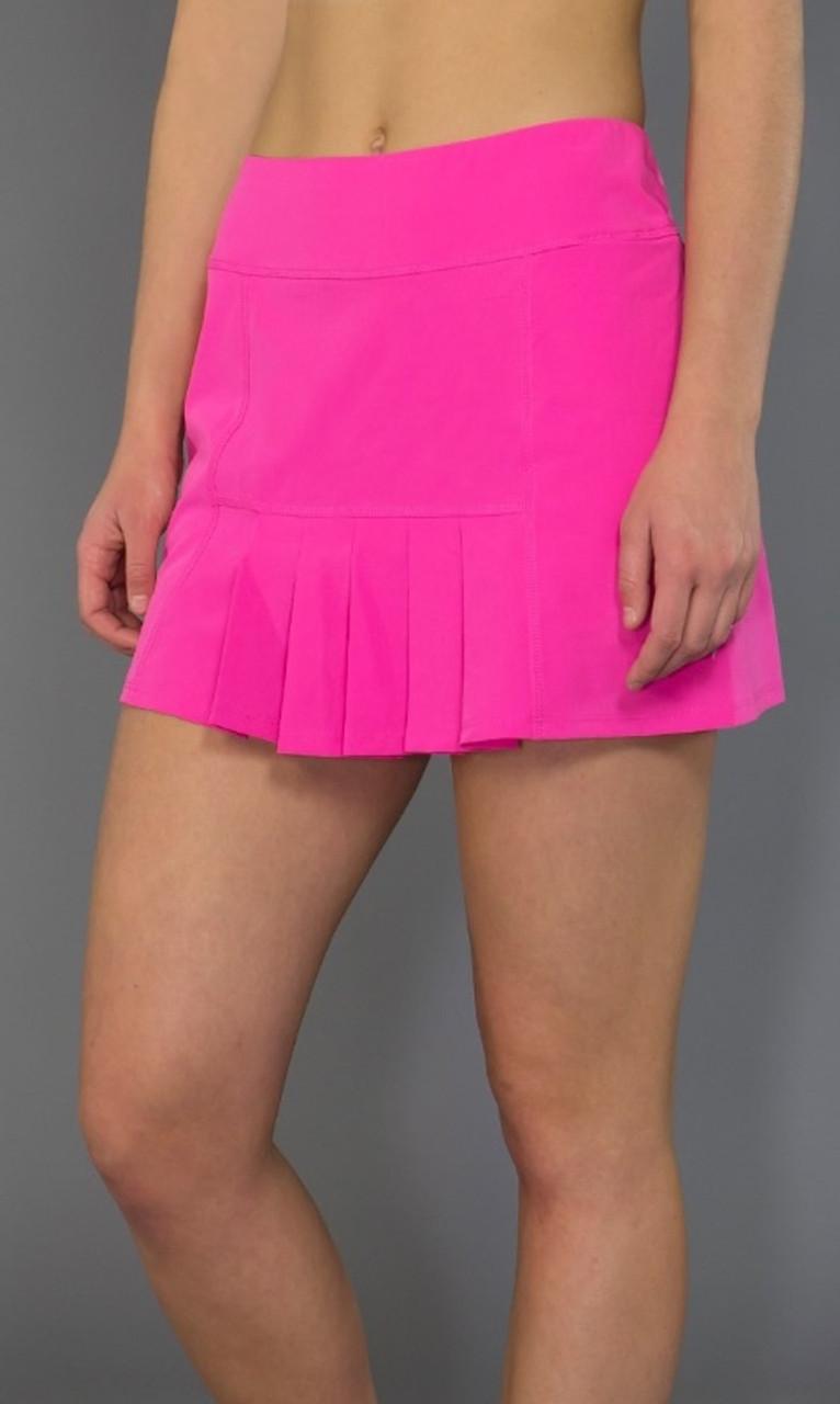 cc1a570f5d JoFit Ladies Dash Pleated Tennis Skorts (Short) - Napa (Fluorescent Pink)