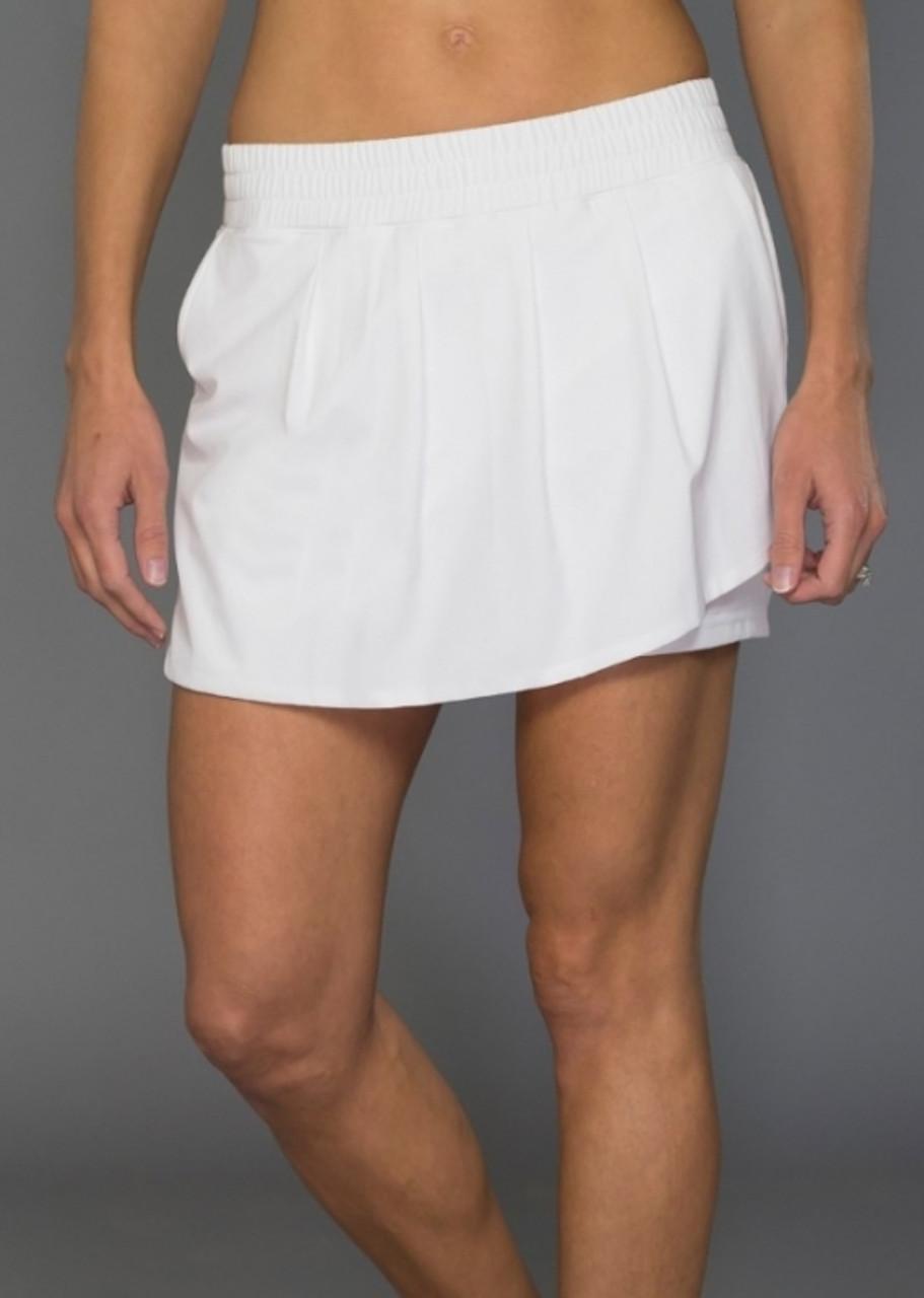5ccc9332a3 JoFit Ladies & Plus Size Cascade Tennis Skorts - Napa (White)
