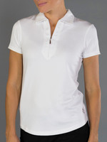 JoFit Ladies Jacquard Performance Polo Tennis Shirts - Bali (White)