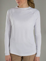 JoFit Women's Plus Size UV Long Sleeve Tennis Tops - Sea Breeze/Kona (White)