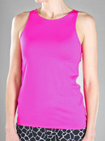 JoFit Ladies & Plus Size Jacquard Excursion Fitness Tank Tops - Mojito (Fluorescent Pink)