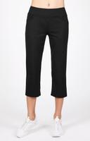 """Tail Ladies Eloise 22.5"""" Inseam Comfort Knit Tennis Capris - ESSENTIALS (Black)"""