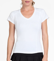 Tail Ladies  Lacasi Short Sleeve Tennis Tops - ESSENTIALS (White)