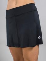 JoFit Ladies & Plus Size Jacquard Swing Tennis Skorts - Black