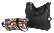 SALE Sydney Love Ladies Reversible Hobo Bag with Inner Pouch -  Vintage Hotel