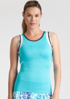 CLEARANCE Tail Ladies Emily Tennis Tank Tops - Glistening Tide (Curacao)