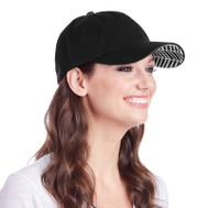 Ame & Lulu Ladies Heads Up Tennis Hats - Black Shutters