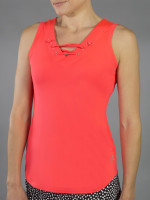 SALE JoFit Ladies Lace- Up Tennis Tank Tops - Daiquiri (Calypso)
