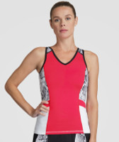 SALE Tail Ladies & Plus Size Alicia Tennis Tank Tops - Red Hot (Aurora)