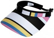 Glove It Ladies Print Tennis Visors - Cabana Stripe