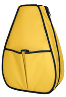 40 Love Courture Ladies Sophi Tennis Backpacks - Yellow Faux with Navy Lining