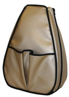 40 Love Courture Ladies Sophi Tennis Backpacks - Golden Bronze with Black Lining