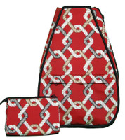 40 Love Courture Ladies Betsy Tennis Backpacks - Red Rope with Black Lining