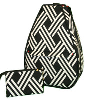 40 Love Courture Ladies Betsy Tennis Backpacks - Modern Weave with Red Lining