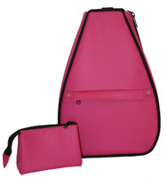 40 Love Courture Ladies Elizabeth Tennis Backpacks - Crushed Berry with Navy Lining or Lime Green Lining