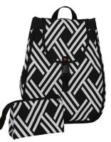 40 Love Courture Ladies Maddie Tennis Backpacks - Modern Weave with Pink Lining
