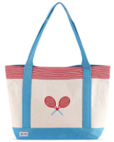 Ame & Lulu Ladies Tennis Lovers Tote Bags - Bitsy