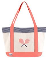 Ame & Lulu Ladies Tennis Lovers Tote Bags - Blaine