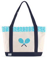 Ame & Lulu Ladies Tennis Lovers Tote Bags - Surf