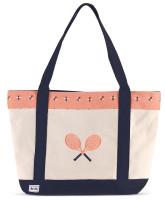 Ame & Lulu Ladies Tennis Lovers Tote Bags - Bees Knees