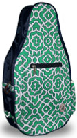 NTB Ladies Pickleball Bags - Piper (Green & Navy Preppy)