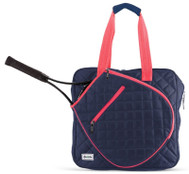 Ame & Lulu Ladies Sweet Shot Tennis Tote Bags - Navy & Pink