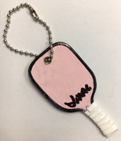 J.Mac Handmade Pickleball Paddle Keychain - Pink