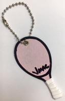 J.Mac Handmade Tennis Racquet Keychains - Pink