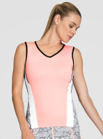 Tail Ladies Sterling Sleeveless Tennis Tank Tops - TAFFY (Taffy w/ Black, White & Folia Print)