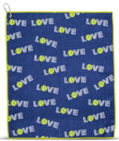 Ame & Lulu Tinsley Tennis Towel - Green Navy Love