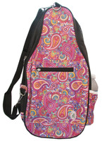NTB Ladies Pickleball Bags - Ainsley (Pink Paisley with Black)