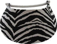 Miracle Lace Ladies Tennis Visors - Zebra (Black/White)