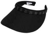 Glove It Ladies Bling Tennis Visors (Comfort Clip) - Black Bling Crystal Squares