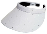 Glove It Ladies Bling Tennis Visors (Comfort Clip) - White Bling Slide On