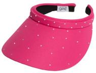 Glove It Ladies Bling Tennis Visors (Comfort Clip) - Pink Bling Slide On