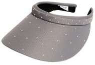 Glove It Ladies Bling Tennis Visors (Comfort Clip) - Grey Bling Slide On