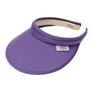 Glove It Ladies Solid Tennis Visors (Comfort Clip) - Solid Purple
