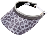 Glove It Ladies Print Tennis Visors (w/ Twist Cord) - Snow Leopard