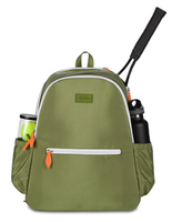 Ame & Lulu Ladies Courtside Tennis Backpacks - Army and Orange