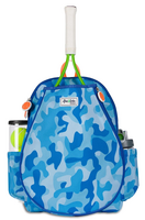 Ame & Lulu Girl's Little Love Tennis Backpacks - Blue Camo