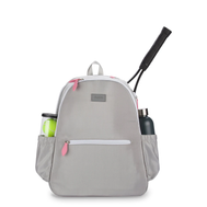 Ame & Lulu Ladies Courtside Tennis Backpacks - Grey and Pink