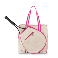 Ame & Lulu Ladies Hamptons Tennis Tour Bags - Pomegranate