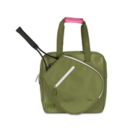 Ame & Lulu Ladies Sweet Shot 2.0 Tennis Tote Bags - Army