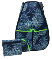 40 Love Courture Ladies Sophi Tennis Backpacks - Pineapples with Lime Green Lining