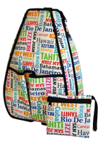 40 Love Courture Ladies Sophi Tennis Backpacks - Resort with Black Lining