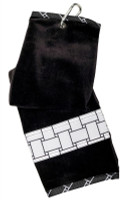 Glove It Ladies Tennis Towels - B/W Basketweave