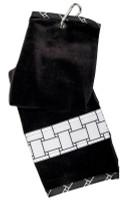 Glove It Ladies Tennis Towels - B/W Basketweave