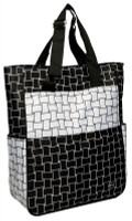 Glove It Ladies Tennis Tote Bags - B/W Basketweave