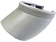 Glove It Ladies Solid Tennis Visors (w/ Twist Cord) - Silver Clear Dot